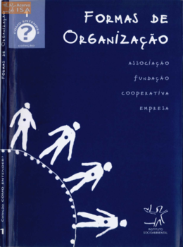 Formas de organização: associação, fundação, cooperativa, empresa. ISA, 2002.
